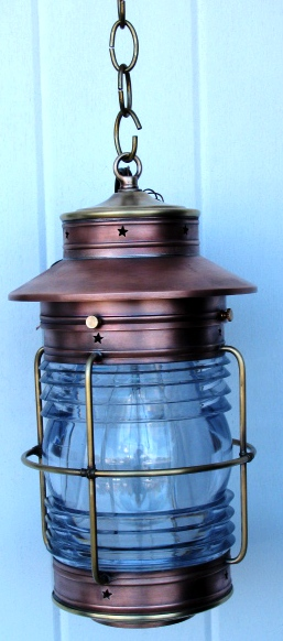Cape Cod Anchor Wall Lantern Medium Caged