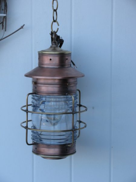 Cape Cod Anchor Wall Lantern Medium Caged