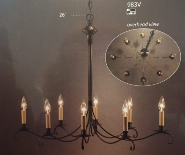 CCL983V Oval Chandelier