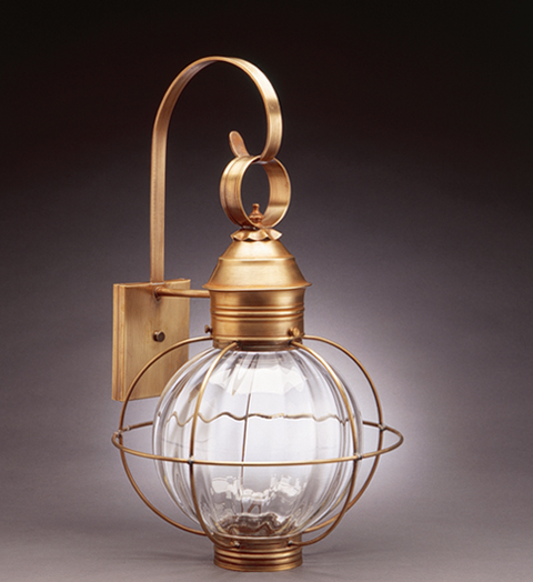 """CCL2841 10"""" Glass Round Wall Lantern Caged"""