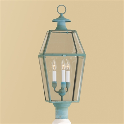CCLNWL1068 Beveled Glass Post Lantern