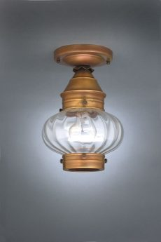 "CCL2024 7"" Glass Cageless Onion Flush Lantern"