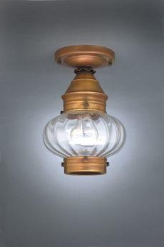 "CCL2024 7"" Glass Cageless Onion Flush Lantern"
