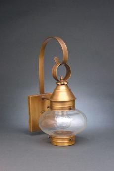 "CCL2021 7"" Glass Cageless Onion Wall Lantern"