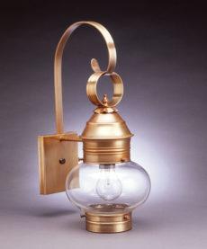 "CCL2031 8"" Glass Cageless Onion Wall Lantern"