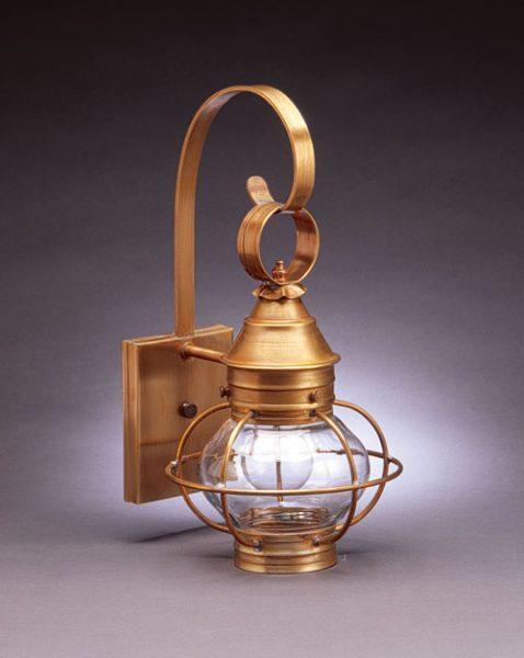 "CCL2511 6"" Glass Onion Wall Lantern Caged"