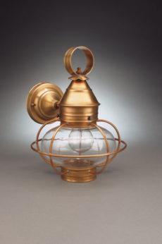 "CCL2525 7"" Glass Onion Wall Lantern Caged"