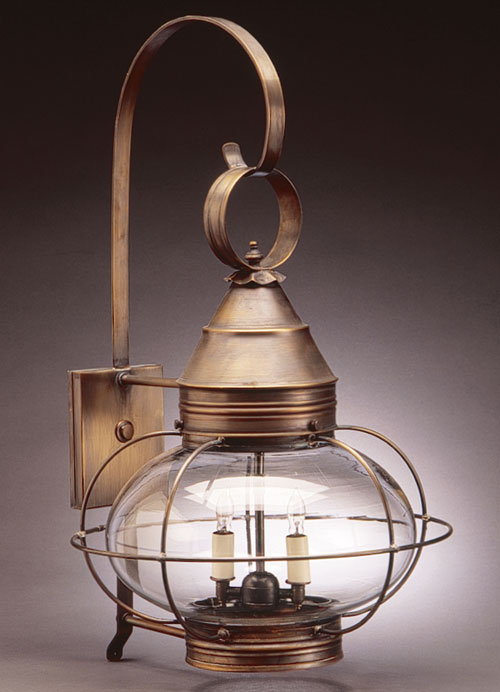 "CCL2571 12"" Glass Onion Wall Lantern Caged"