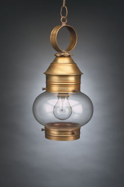 "CCL2032 8"" Glass Cageless Onion Hanging Lantern"