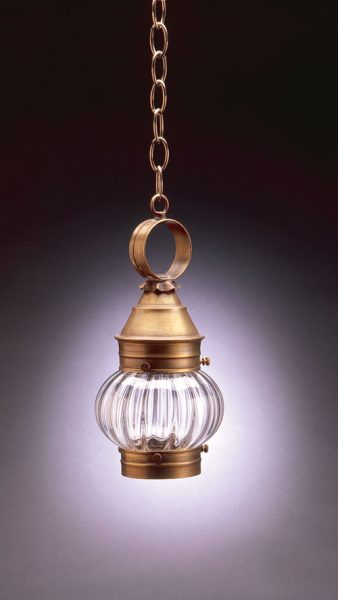 "CCL2012 6"" Glass Cageless Onion Hanging Lantern"