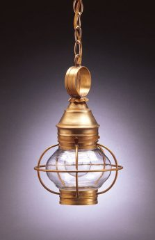 "CCL2512 6"" Glass Onion Hanging Lantern Caged"