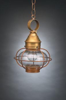 "CCL2522 7"" Glass Onion Hanging Lantern Caged"