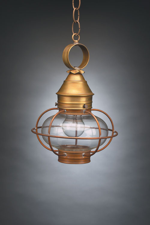 "CCL2522 7"" Glass Onion Hanging Lantern Caged"