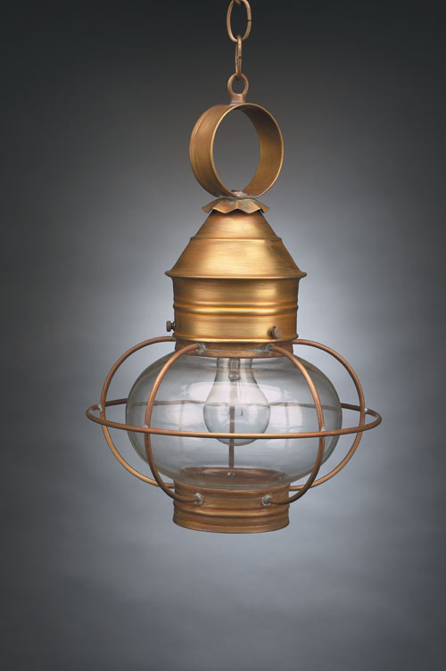 "CCL2532 8"" Glass Onion Hanging Lantern Caged"