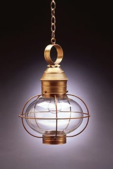 "CCL2542 10"" Glass Onion Hanging Lantern Caged"