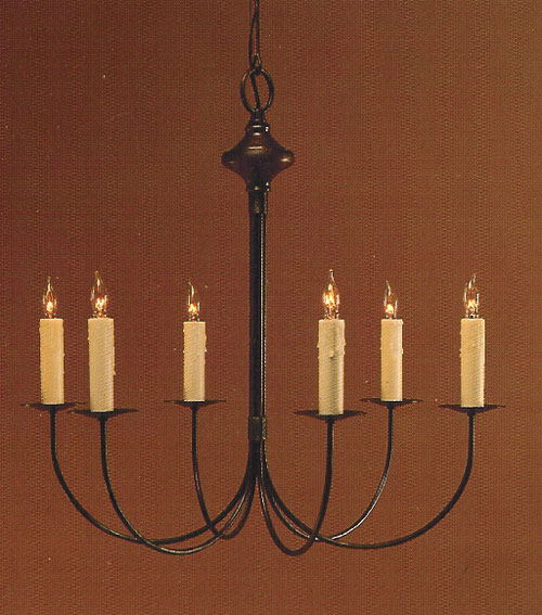 CCL400-6 J-Arm Brass Chandelier