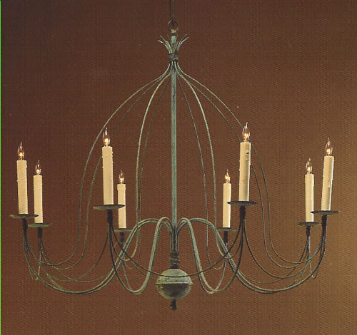 CCL806-8 Brass Eight-Arm Birdcage Chandelier