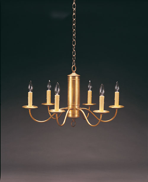 CCL911 Three Inch Tube Brass Chandelier