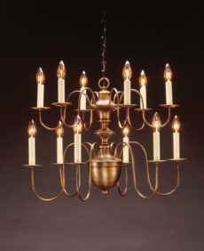 CCL923 Two Tier Brass Chandelier