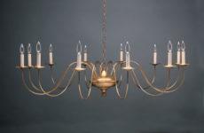 CCL951 Twelve-Light Brass Chandelier