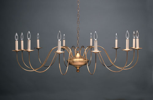 CCL951 Twelve-Light Brass Chandelier