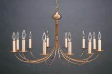 CCL952 Twelve Light Brass Chandelier