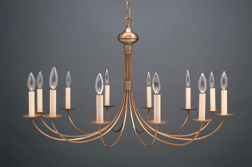 CCL952 Twelve Light Brass Chandelier