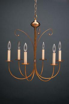 CCL955 Six Light Brass Chandelier
