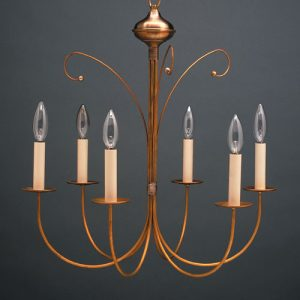 CCL955 Six Light Brass Chandelier