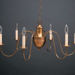 CCL958 Six Light Brass Chandelier