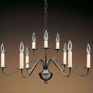 CCL963 Nine Light Brass Chandelier