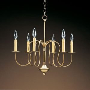 CCL966 Six S-Arm Brass Chandelier