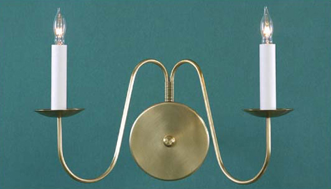 CCL322-2 Two Arm Stamford Brass Sconce
