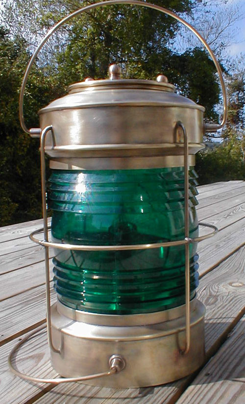 Cape Cod Post Lantern Caged Green