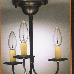 CCL903F Flush Three-Arm Chandelier