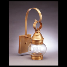 "CCL2011 6"" Glass Cageless Onion Wall Lantern"