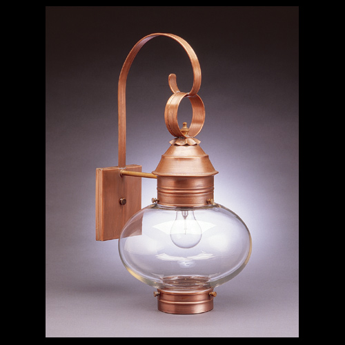 "CCL2041 10"" Glass Cageless Onion Wall Lantern"