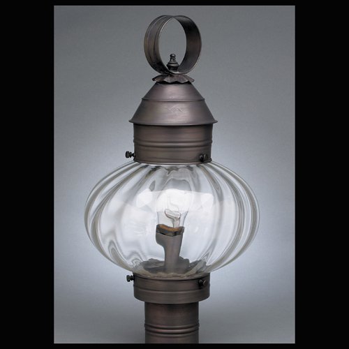 "CCL2043 10"" Glass Onion Post Lantern"