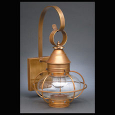 "CCL2521 7"" Glass Onion Wall Lantern Caged"