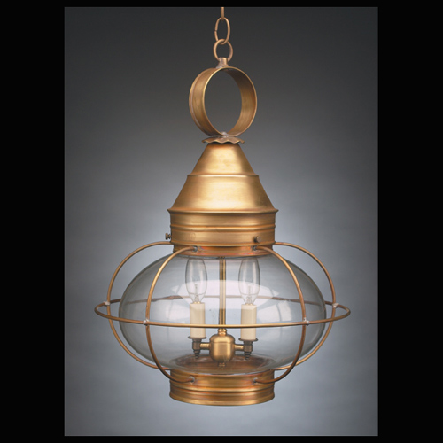 "CCL2572 12"" Glass Onion Hanging Lantern Caged"