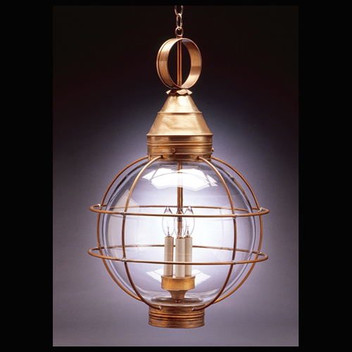 "CCL2862 14"" Glass Round Hanging Lantern"