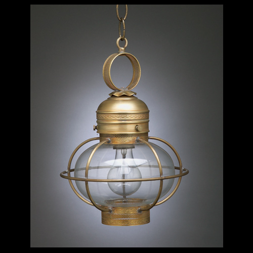"CCL2522G 7"" Hanging Onion Lantern with Decorative Galley"