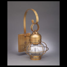 "CCL2511-G 6"" Glass Onion Wall Lantern with Galley"