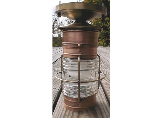 CCL Cape Cod Ceiling Small Caged Lantern