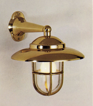 CCLST2060-CLR/4120 Brass Side Arm Nautical Caged Lantern