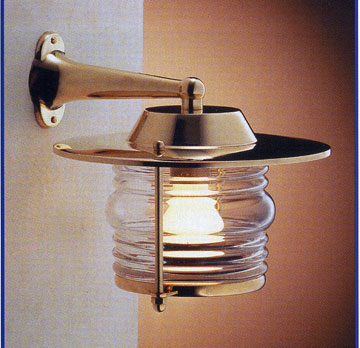 ST2059/4118 Brass Nautical Side Arm Wall Light