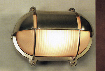 CCL4871 Brass Oval Wall Bulkhead Light
