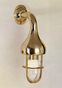 ST2075/4150 Brass Teardrop Side-arm Caged Light