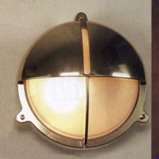 ST2427/4854 Brass Round Cage Light with Hood