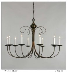 CCL502-10 Willow Chandelier